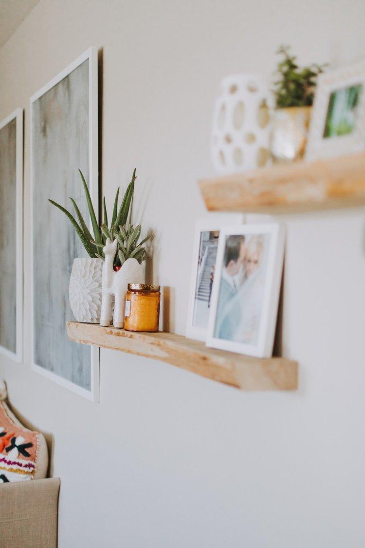 Decorating your Floating Shelves — SarahLou Co.