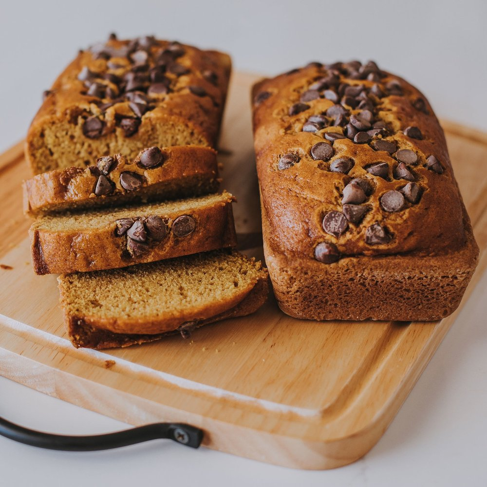 Pumpkin Chocolate Chip Bread - A delicious and moist bread, perfect for dessert…. or breakfast…!