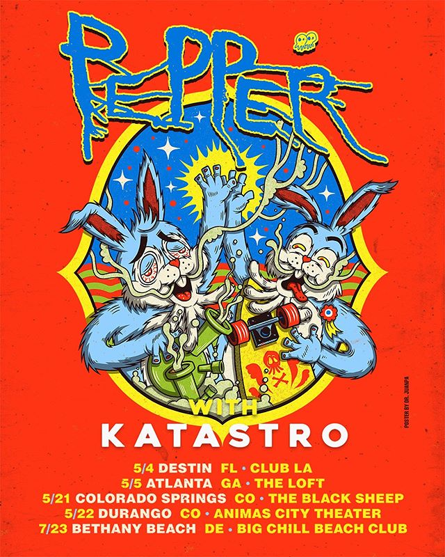 We just added 5 new shows direct support for @pepperlive // Tickets go on sale tomorrow at 10am 💥 #katastro #pepper
