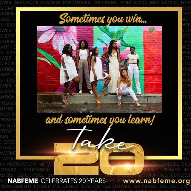 NABFEME... 20 years of empowerment, 20 respected, knowledgable leaders, 20 Networks you can join today in the US, Canada and Africa!! Membership dues reduced to $20! #take20 and celebrate 20 years with us! #calltoaction #positivevibes #powerfulwomen #strongwomen #jointhejourney #beamember #giveback #teachandlearn #success www.nabfememember.org