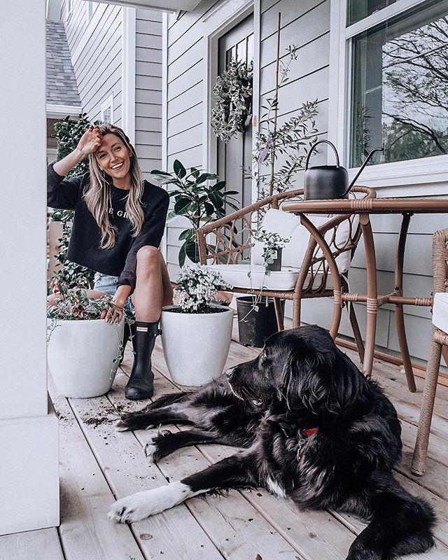 Sprucing up for Spring 🌱  our first front porch in YEARS deserves a little elbow grease! 💪🏻 http://liketk.it/2BcL0  #LTKspring #LTKhome  #mydarlingdiary
