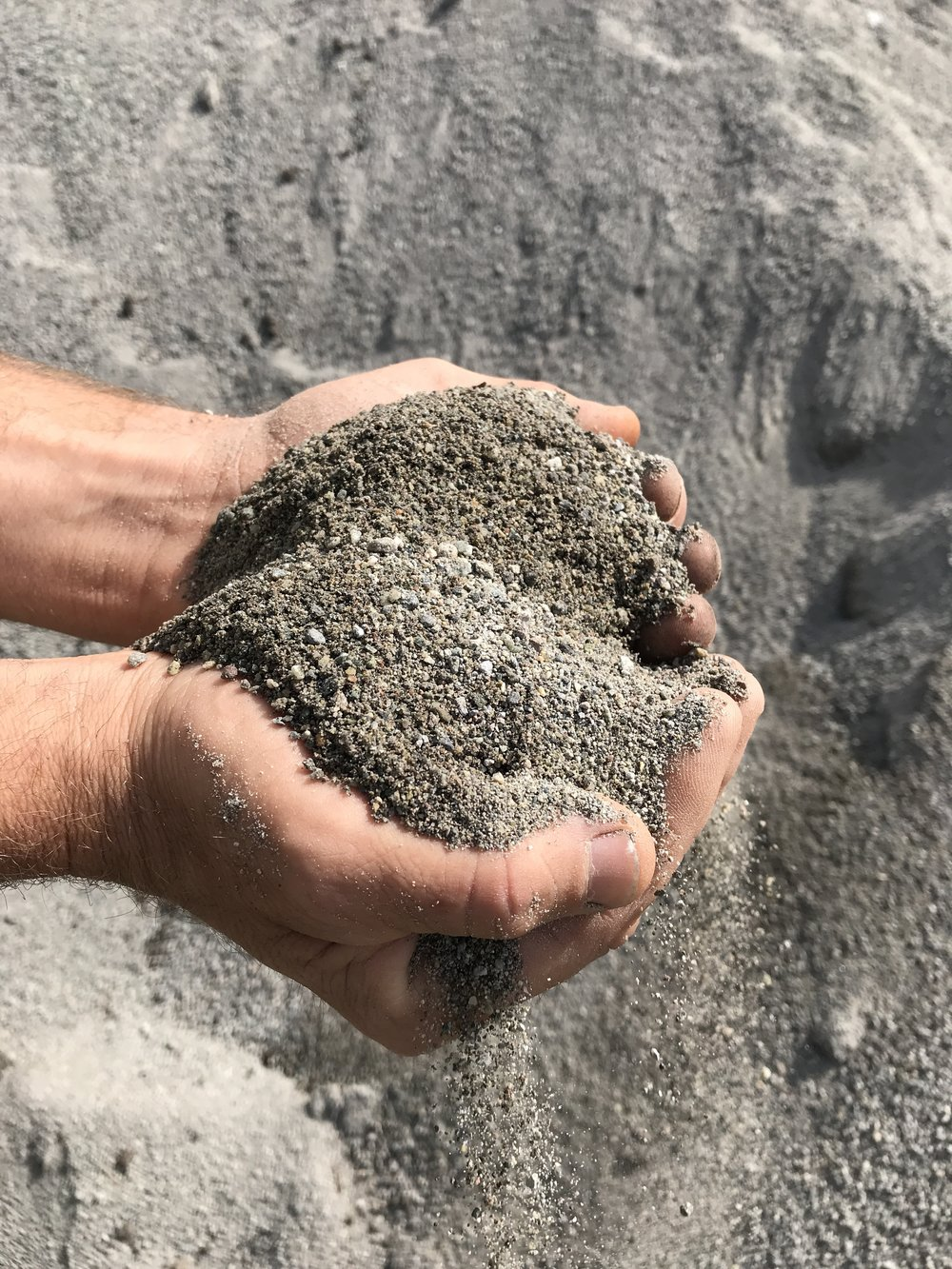 WASHED SAND - This washed sand, or construction sand, is a combination of course grain and fines and is often used to fill space between paving stones. It can also be used for sand boxes. $30.00 per yard$18.00 per half yard$ 5.00 per pail