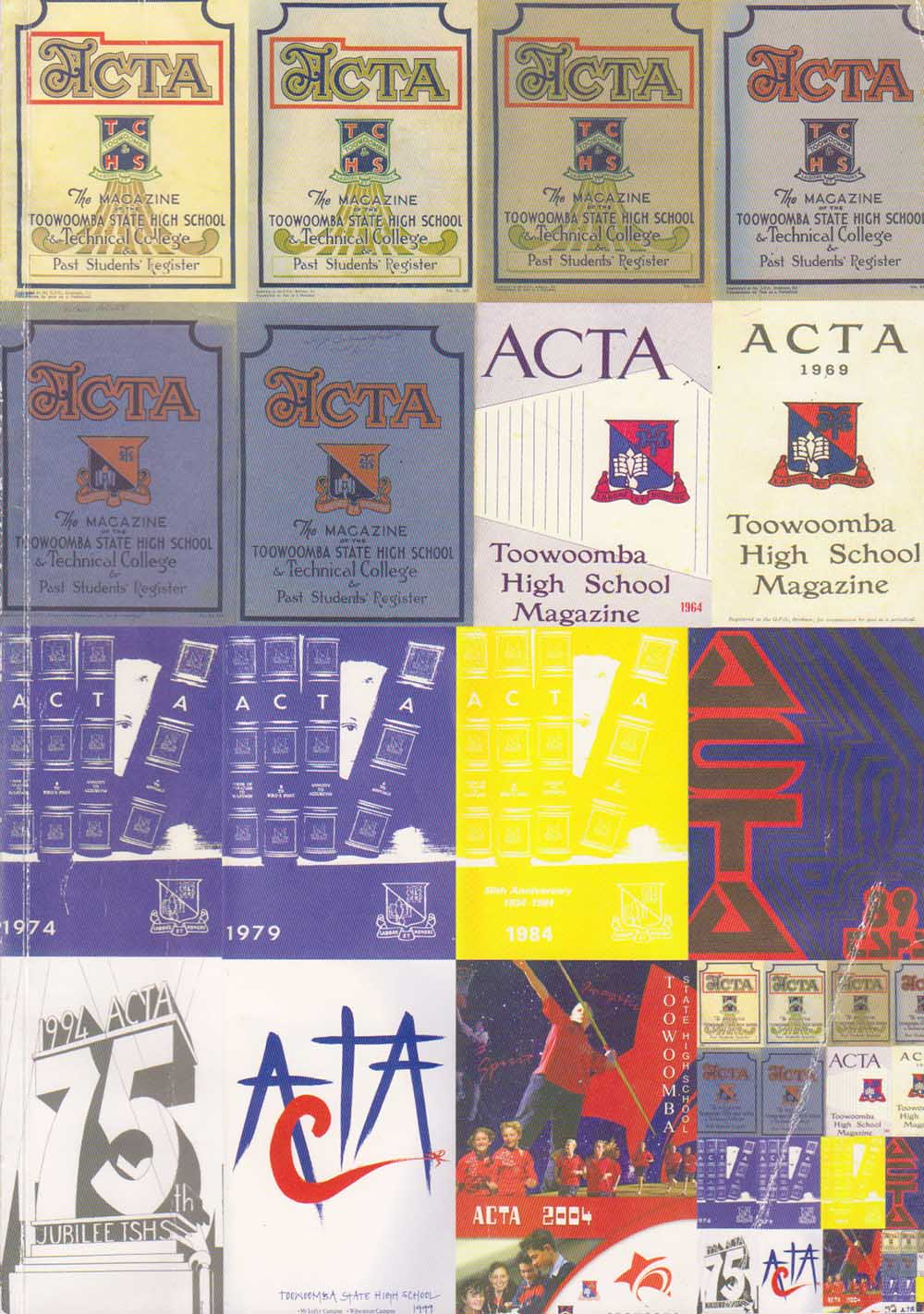 Covers of various ACTA magazines