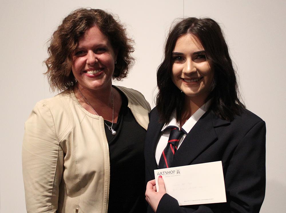 2018 Award winning photographer - Anna Martin receiving her prize