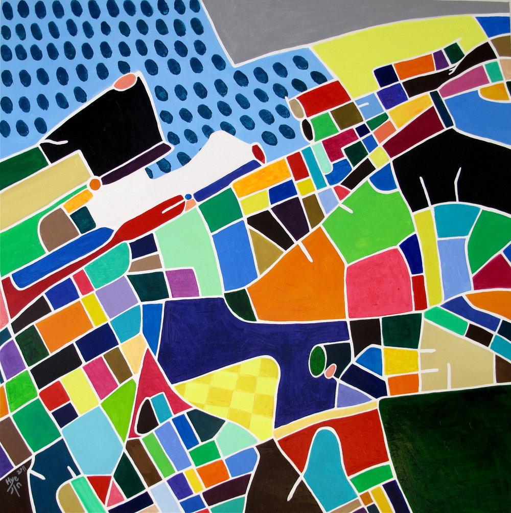 HELSINGBORG, 70 x 70cm, Acrylic on canvas