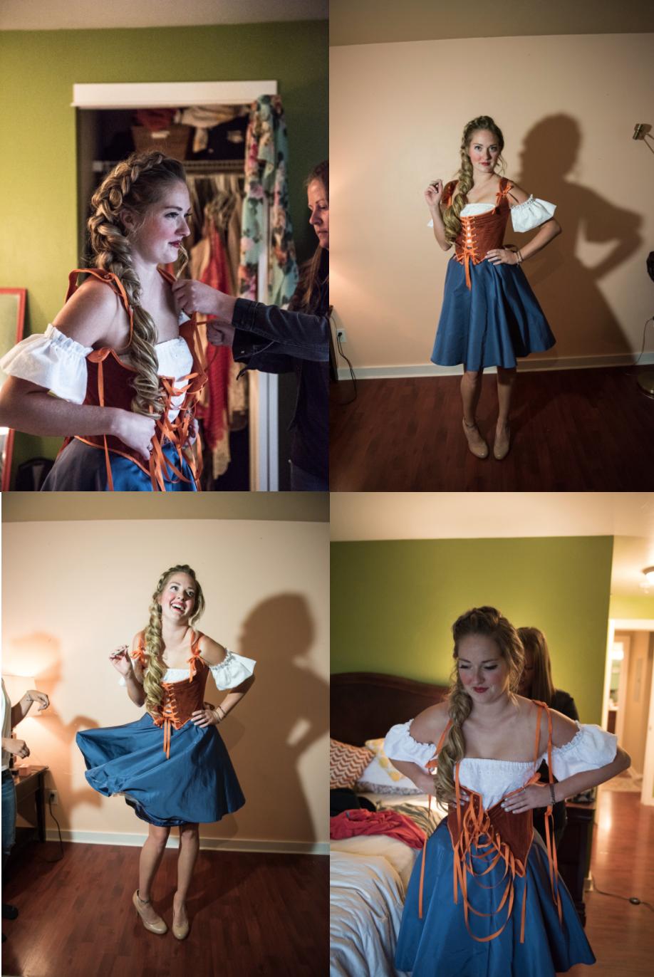 Custom-designed corset for the Dutch Valley shoot.