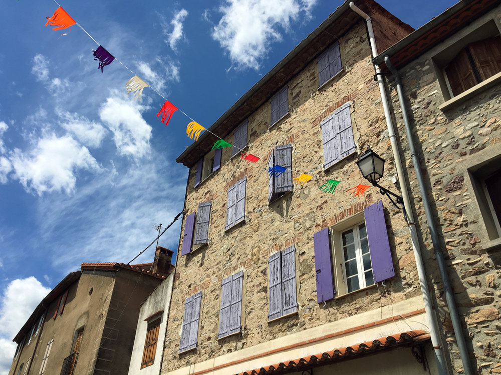 Stone houses of Languedoc in southern France
