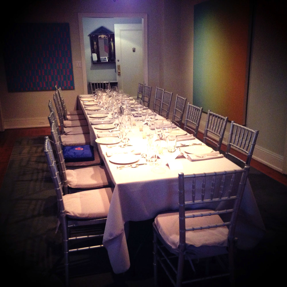 personal, intimate, delicious catered dinner in your home