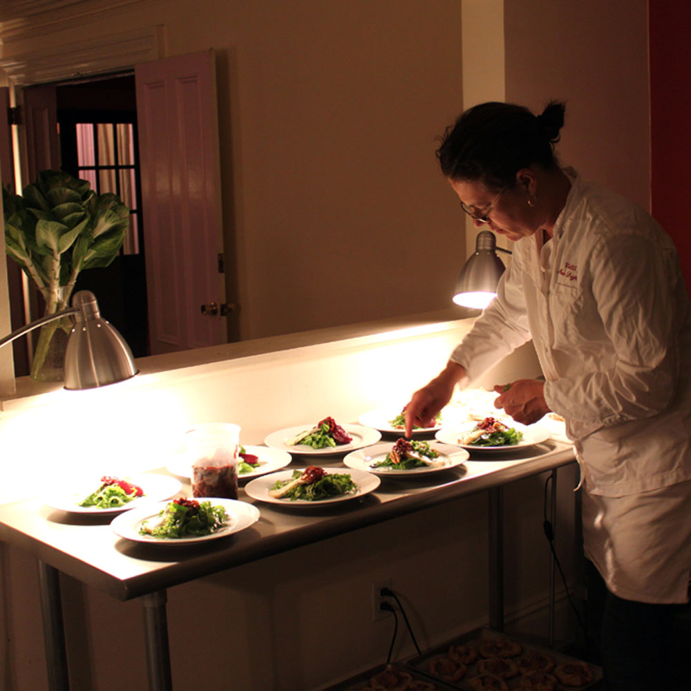 Beautiful dinner parties catered in your home
