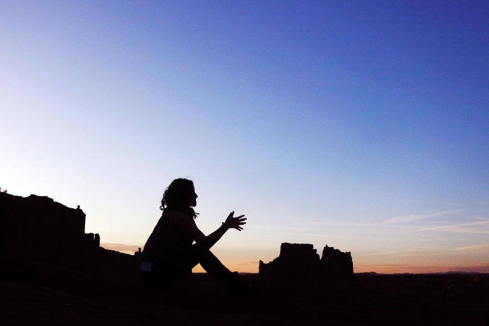 sunset. arches national park. moab, utah