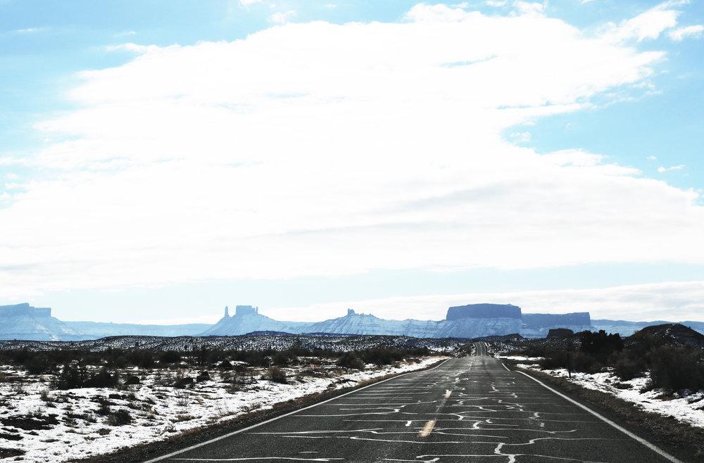distant highway open road