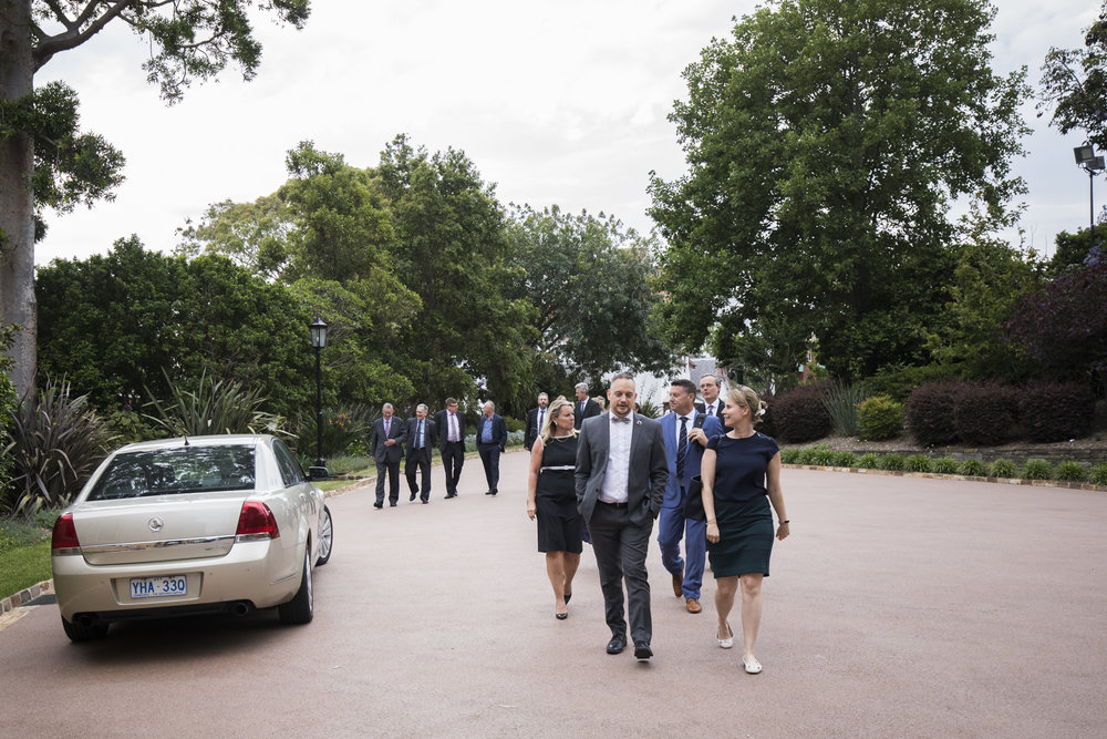 Guests arriving at Admiralty House
