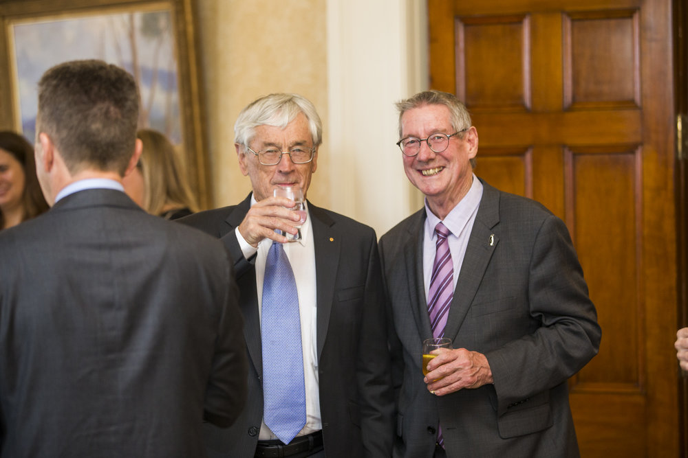 Entrepreneur Dick Smith and Dr Tony Press