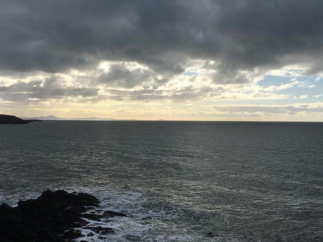 Winter skies. #ynysmon #cymru #anglesey #northwales #sea #sky #waves