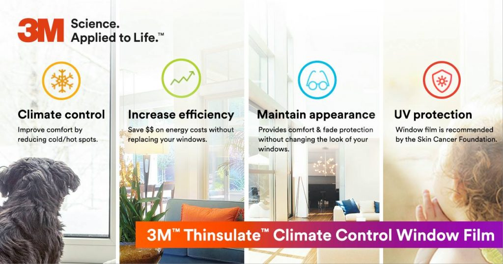 Upgrade the Glass of Your Existing Windows with 3M Thinsulate