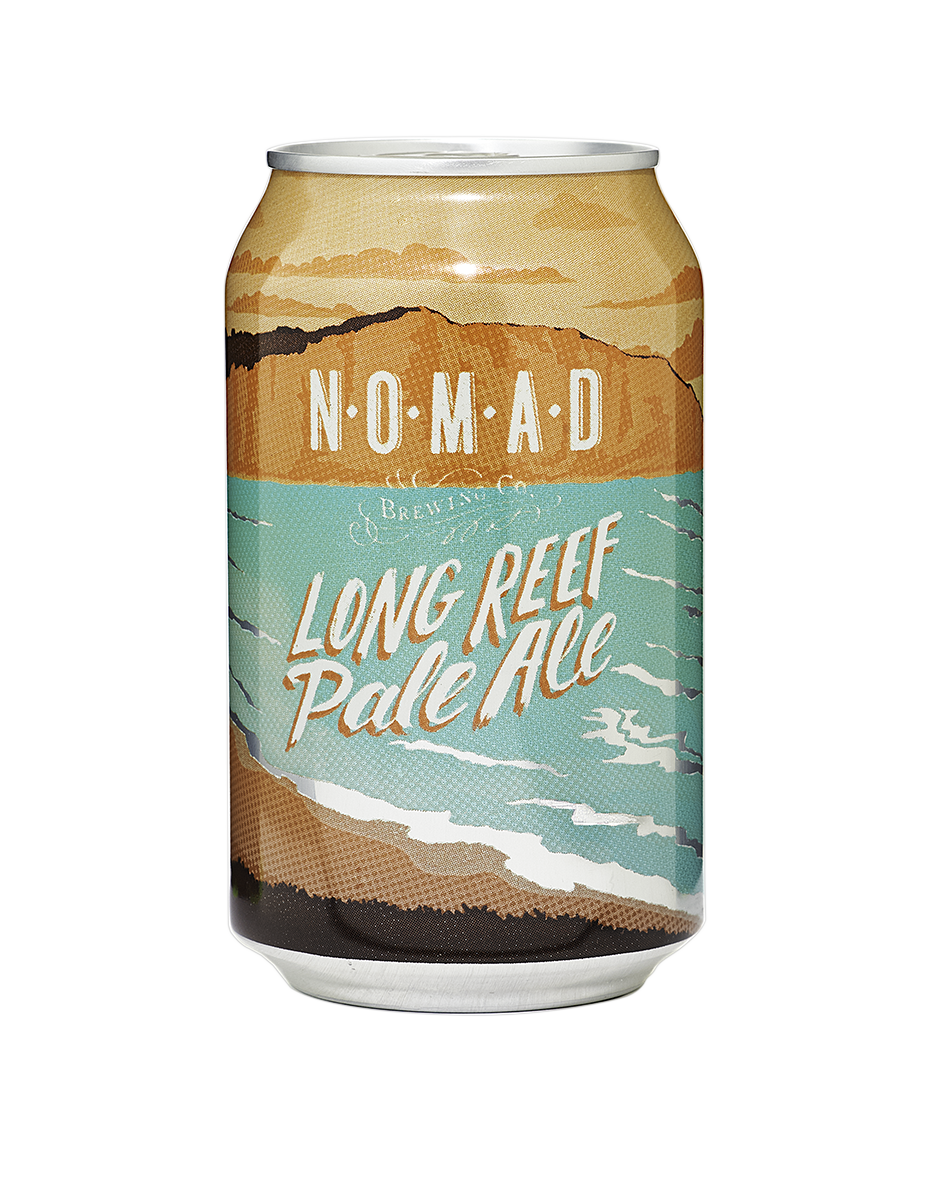 NOMAD - Long Reef Pale  A blend of stone and tropical fruit hops with a solid malt backbone this pale ale is a refreshing, great balanced beer. Combining the likes of Summer and Galaxy hops, this beer delivers a great new Pale Ale experience that is delivers at every sip.