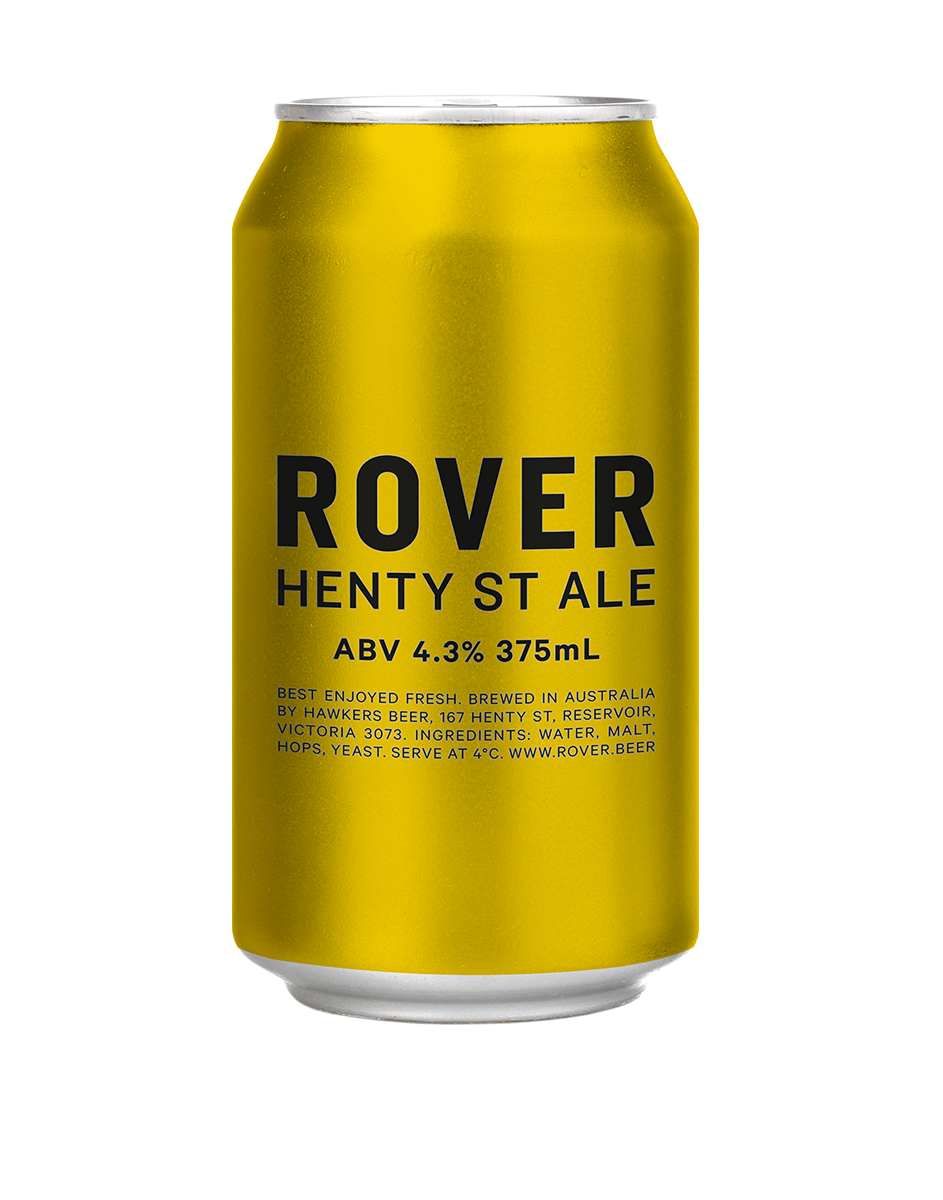 Hawkers - Henty St Ale  Bursting with juicy tropical hop aromas, this beer is unfiltered, full flavoured and damn drinkable.