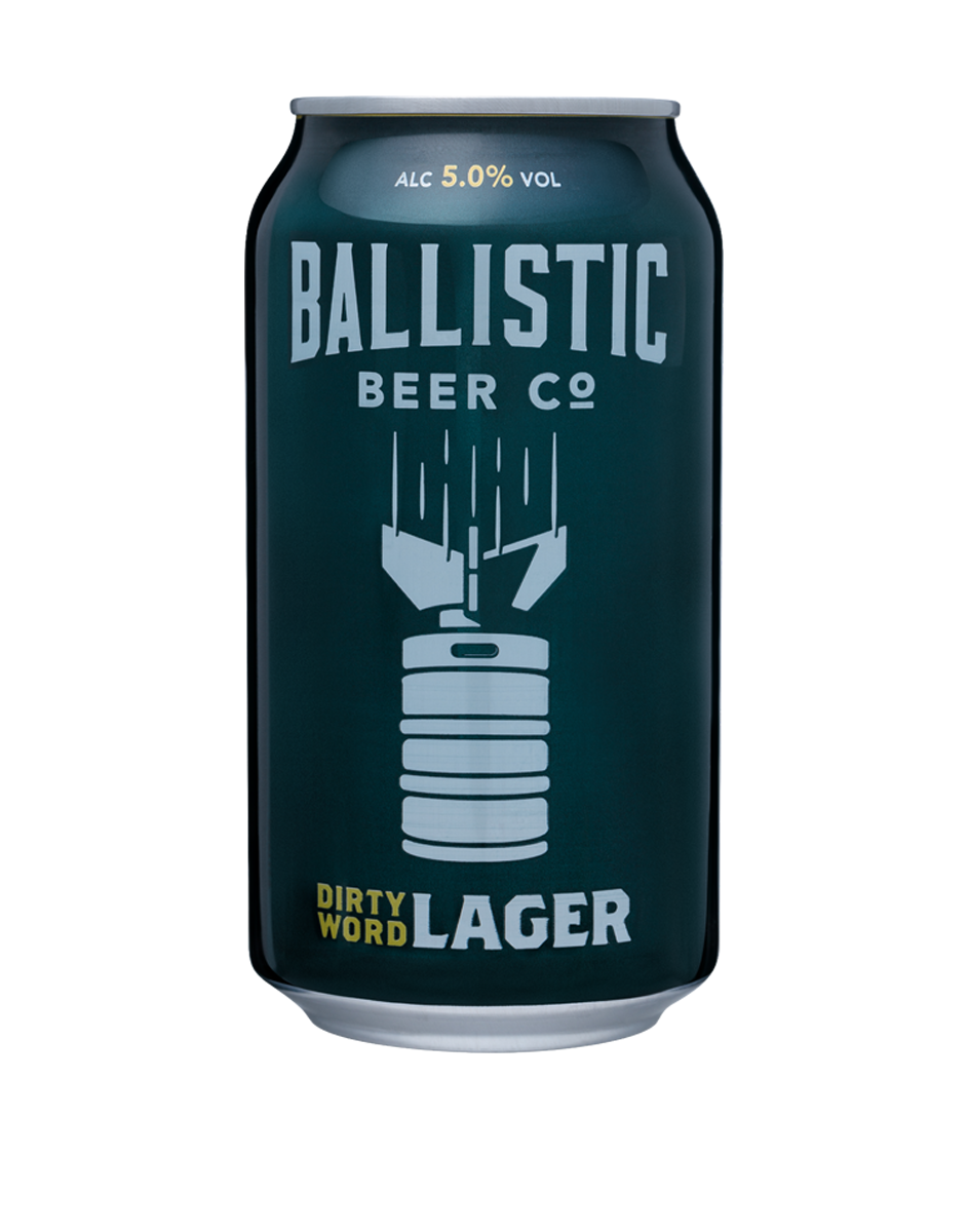 Ballistic Dirty Word Lager  Lager has long been a dirty word in craft beer circles but Ballistic have challenged that idea by creating a clean, crisp, contemporary craft lager to prove the lager haters wrong. An aroma of lime peel and honeydew melon with a delicate bitterness and dry finish.