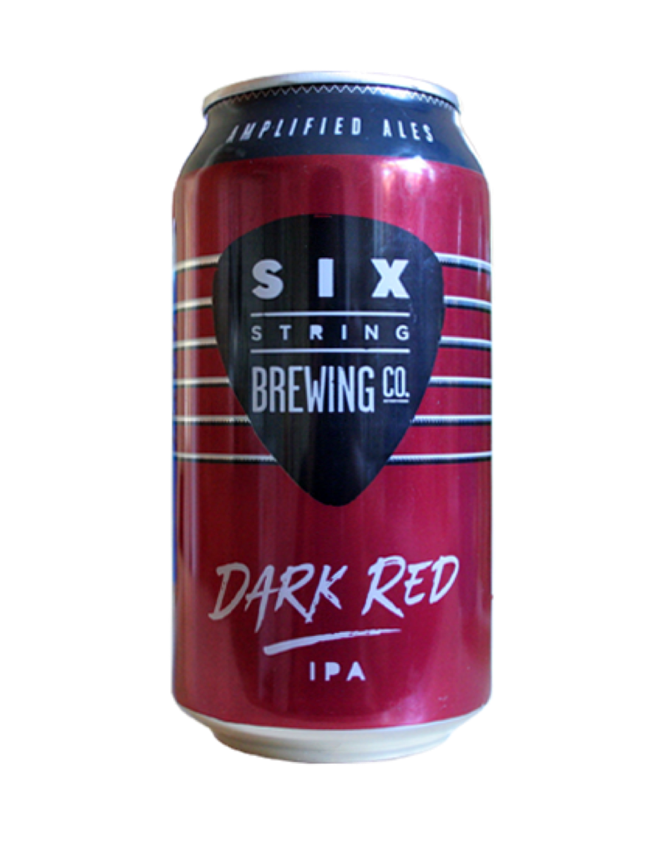 Six String - Dark Red IPA  Loud and in your face! This is the Heavy Metal of the Six String range. A little unconventional with it's velvety dark red colour, hops dominate the aroma and add an intricate flavour which is balanced by the malt giving it the complexity of a metal riff.