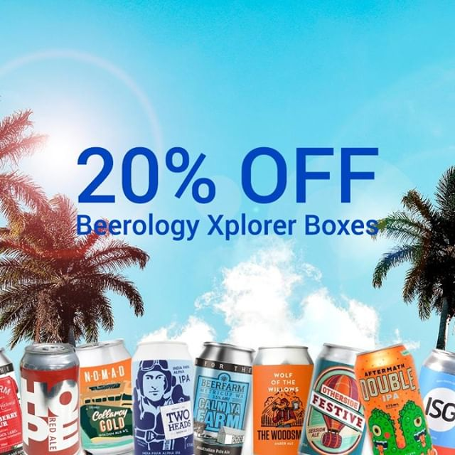 *LAST CHANCE* Today is the last day to get 20% OFF Beerology once-off Xplorer Boxes. Simply use code BGXP20 at check-out. 🎁Choose between a box of 8 unique brews, or a box of 12 brews (6 unique) 😵 $4.60 per beer 🚛Flat rate shipping 💥Delivery to NSW, VIC, SA, Metro QLD Grab it by midnight, Feb 28th 2019! Link in bio. . . . #craftbeer #beer #beerdelivery #drinklocal #brew #brewery #ipa #ale #beerology #craftbeerlover #beerlover #craftbeerbox