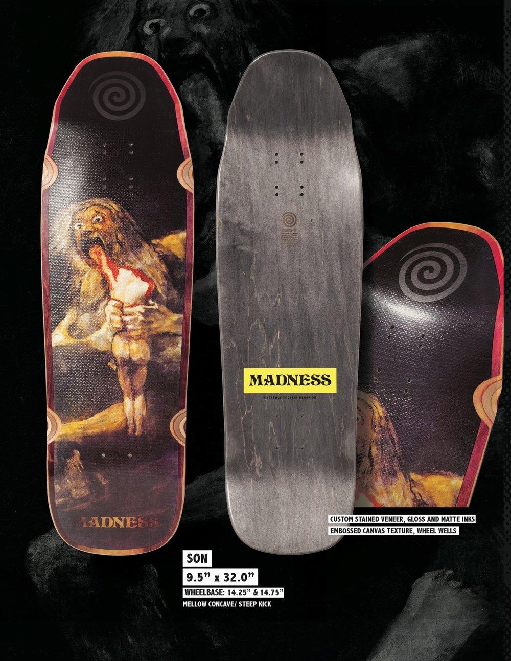 Copy of MADNESS Son 9.5 R7 Skateboard Deck