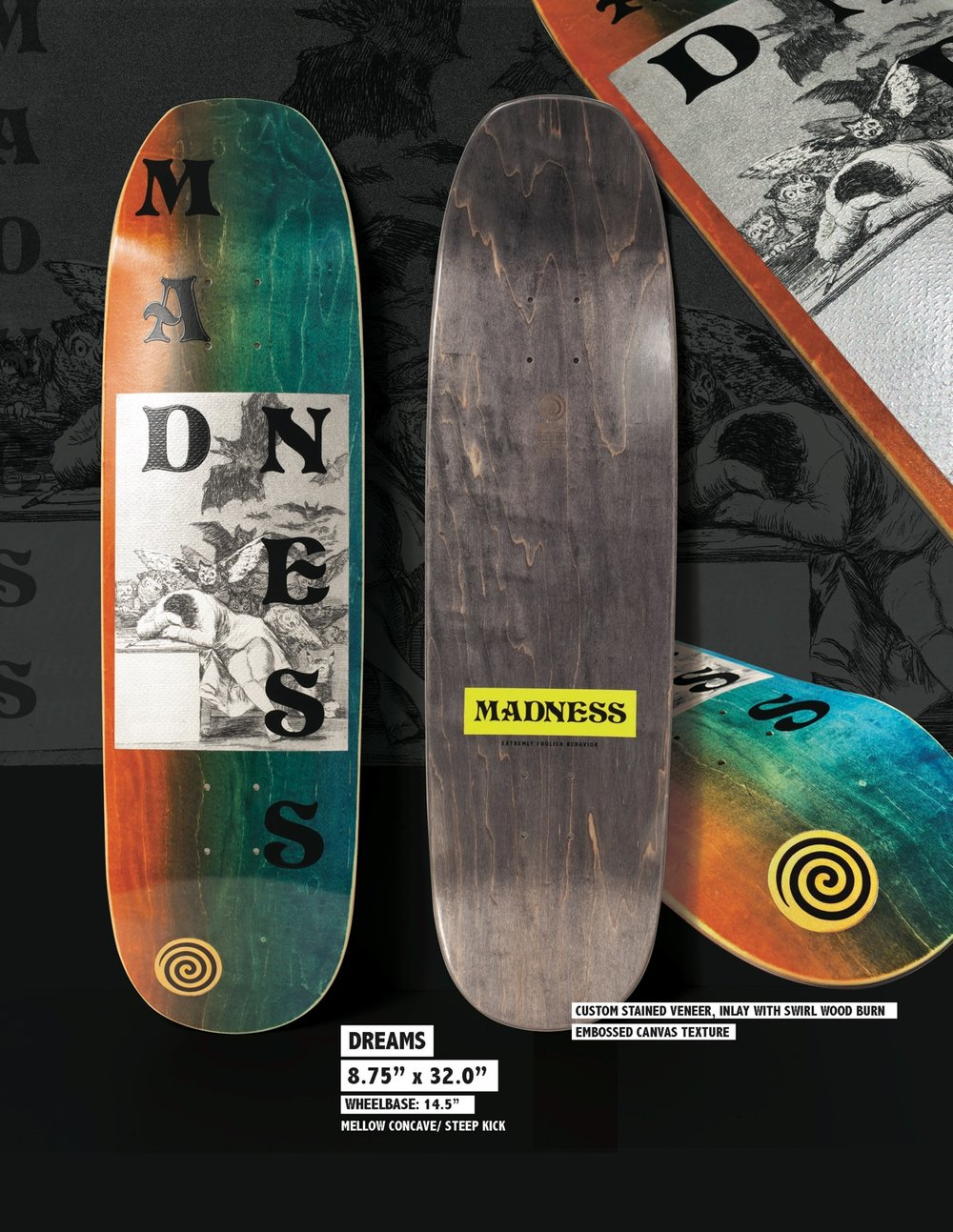 Copy of MADNESS Dreams 8.75 R7 Skateboard Deck