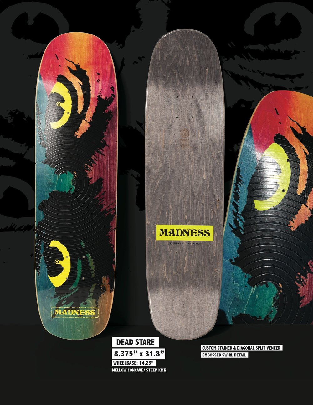 Copy of MADNESS Dead Stare 8.375 R7 Skateboard Deck