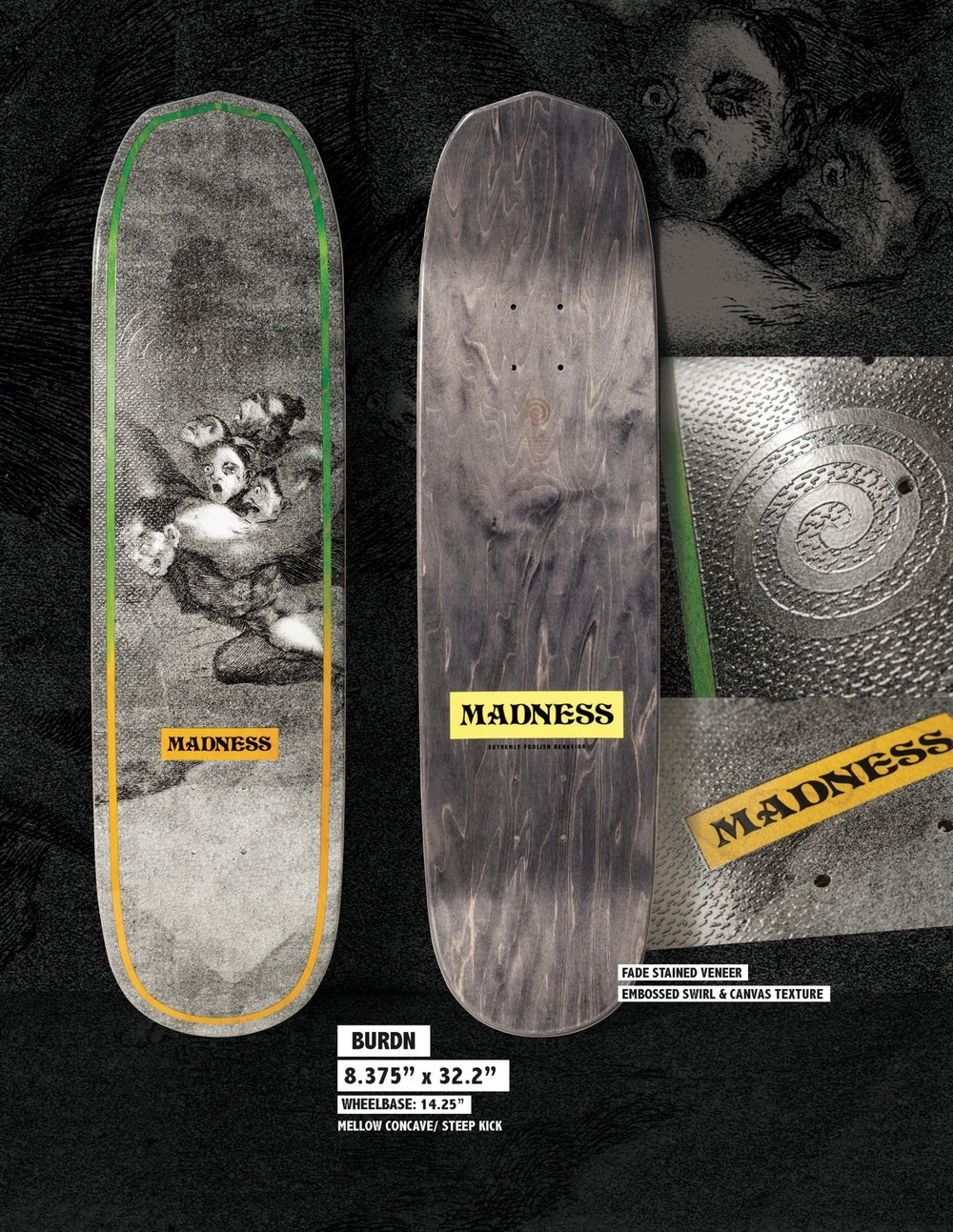 MADNESS Burdn 8.375 R7 Skateboard Deck