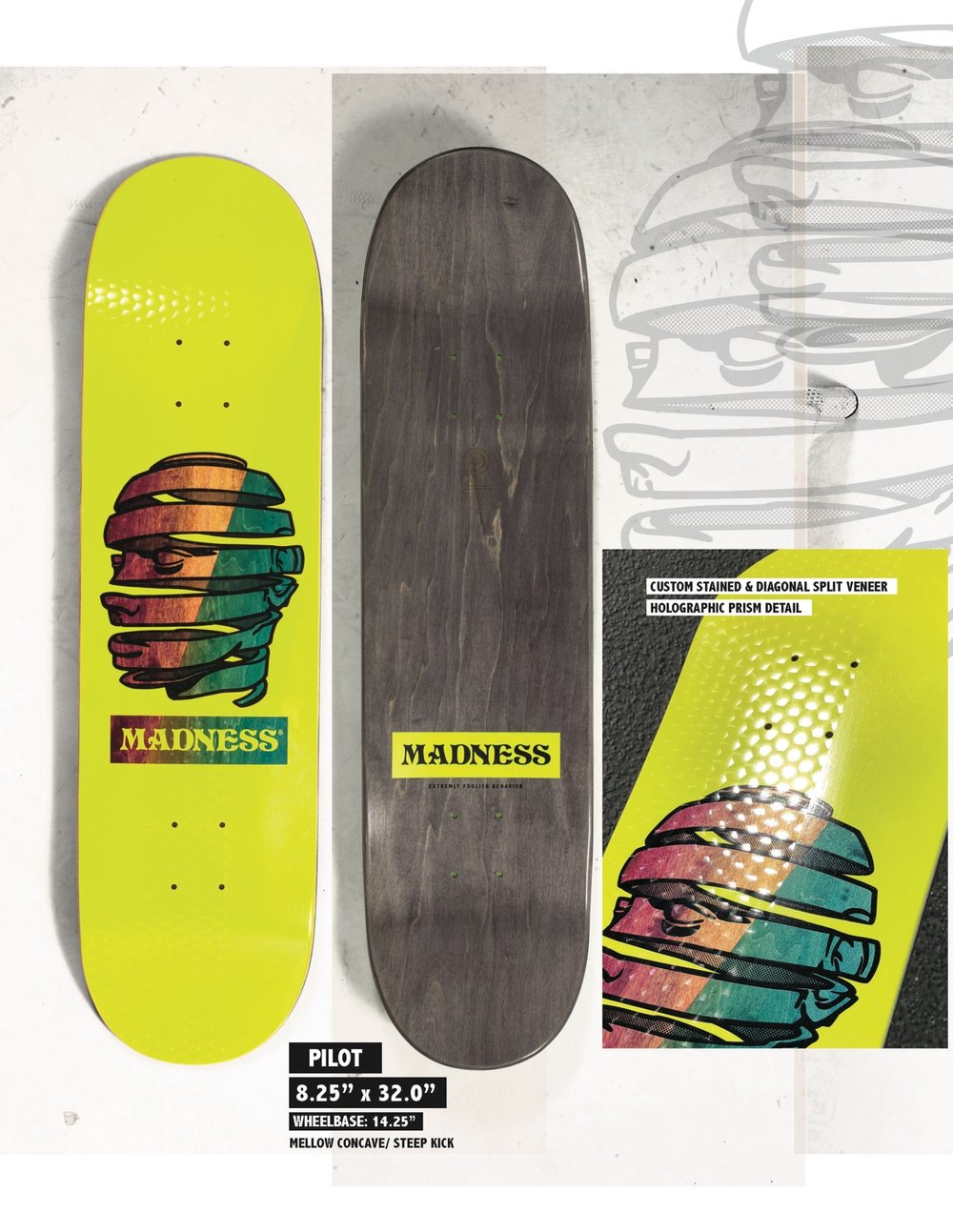 Copy of MADNESS Pilot 8.25 R7 Skateboard Deck