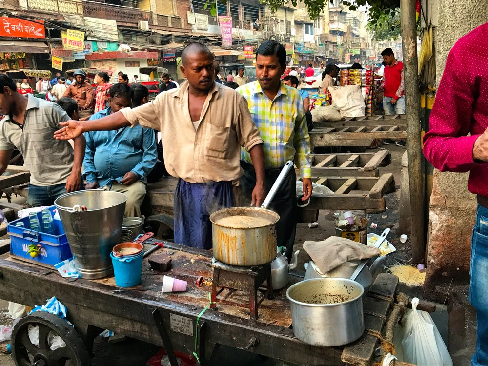 Freshly made street Chai, Chandni Chowk, Dehli, India