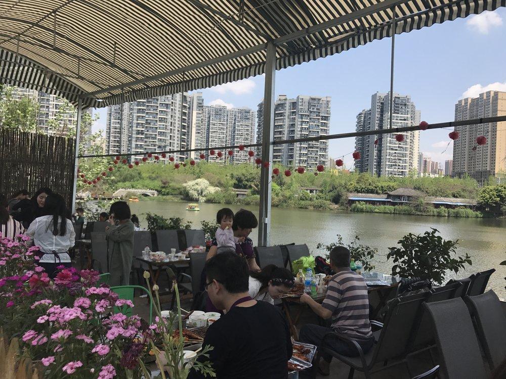 restaurant in Flower Town, Chengdu, China