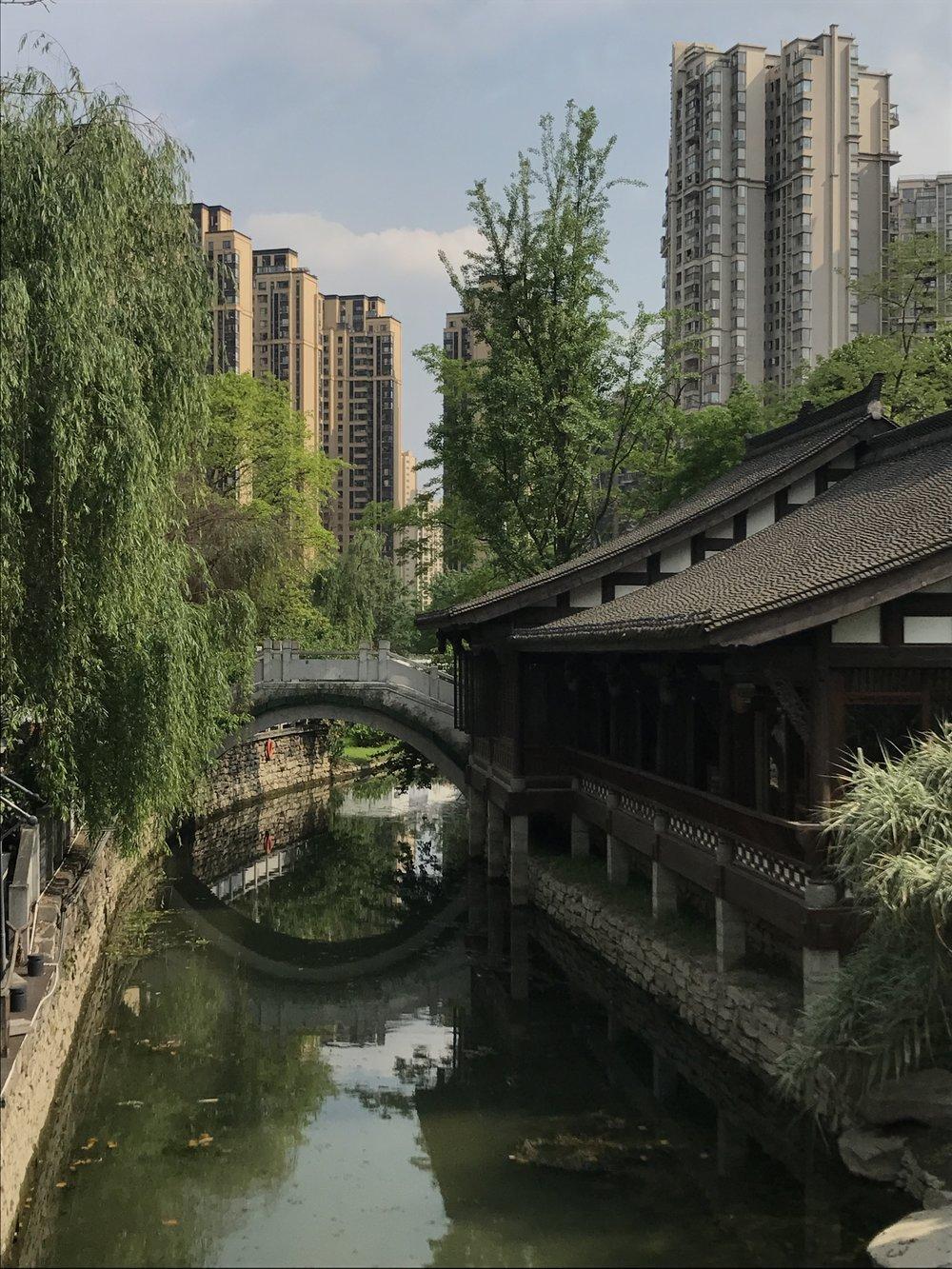 cute bridge, Chengdu, China