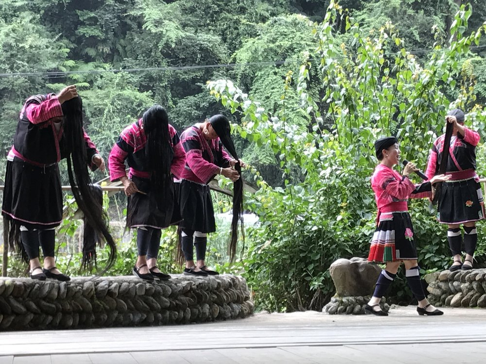 The women of the Huangluo Ethnic Village