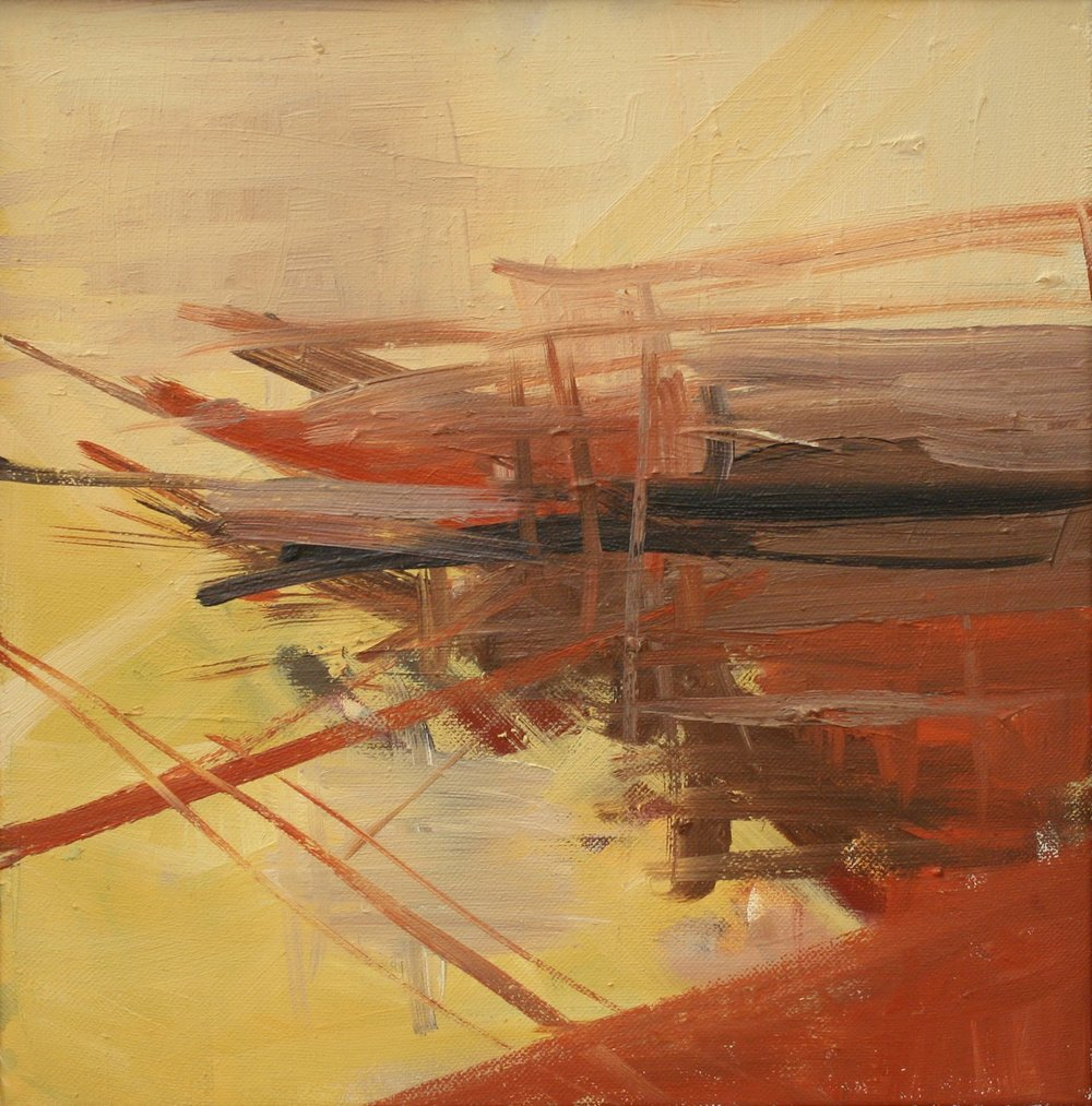 Painting_58_Red and Yellow Study, oil on canvas, 12 x 12 in.JPG