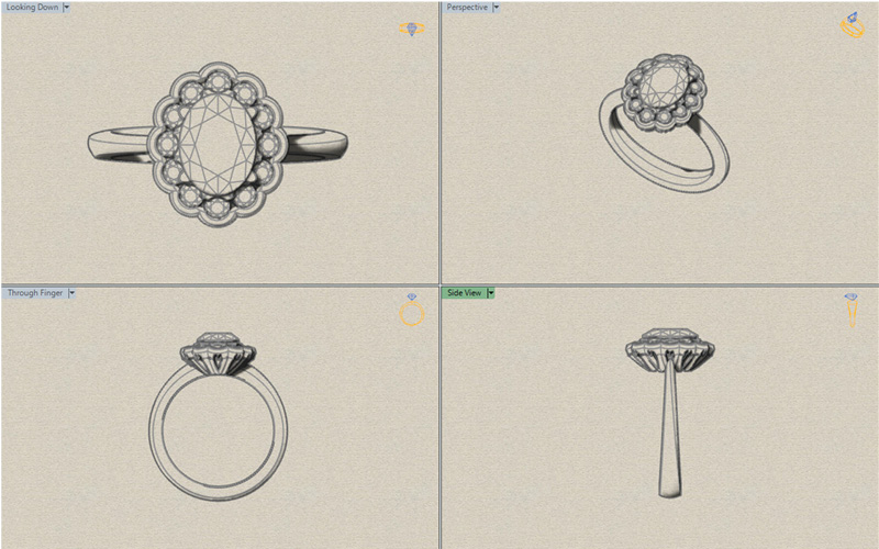 You can be confident that you are going to get the piece of jewellery you have always wanted as we will advise you through every stage of the process with tech drawings and life like picture renders.