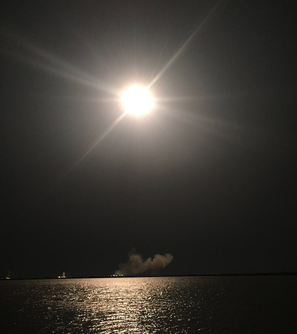 SpaceX night launch @ Cape Canaveral Air Force Base, FL.