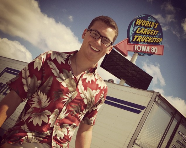 A snazzy Hawaiian shirt @ the world's largest truck stop.