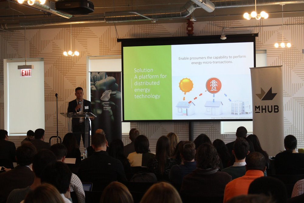 Presenting as a finalist @ the Chicago Clean Energy Trust Competition