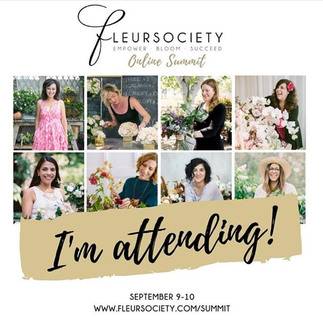 Flower Friends! If you haven't signed up yet, do yourself and your business a favor and don't miss out on attending this virtual educational class. This is my second time attending and the value I've received so far outweighs the price you pay. I'm super excited about soaking in all I can and more from the industry's best @fleursociety  #fleursocietyshoutout