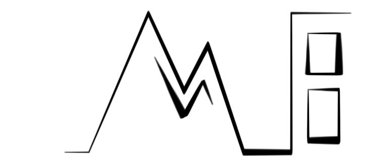 Das Logo - Diese Perspektiven sind auch in das City-E-Scape Logo eingearbeitet: ein Berg und ein (Hoch-) Haus; beides Symbole für aus und in der Stadt.