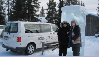 Yasmin and I visit the Ice Hotel