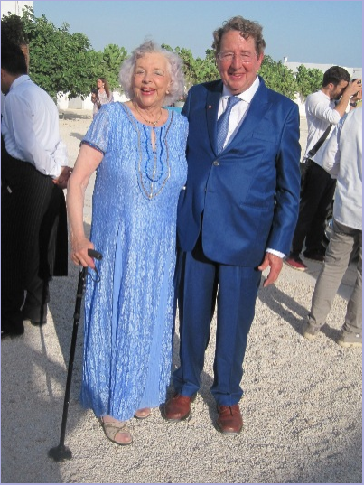 With my cousin Trevor, father of the bridegroom, at a family wedding in Puglia, Italy