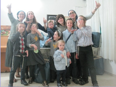 With my step-grandchildren and great-grandchildren in Israel