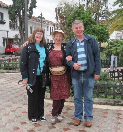 With Yasmin and Dave in Cuenca