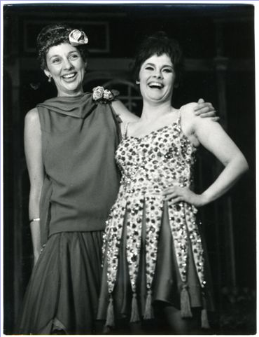 With Judi Dench in CABARET at the Palace Theatre. 1968.