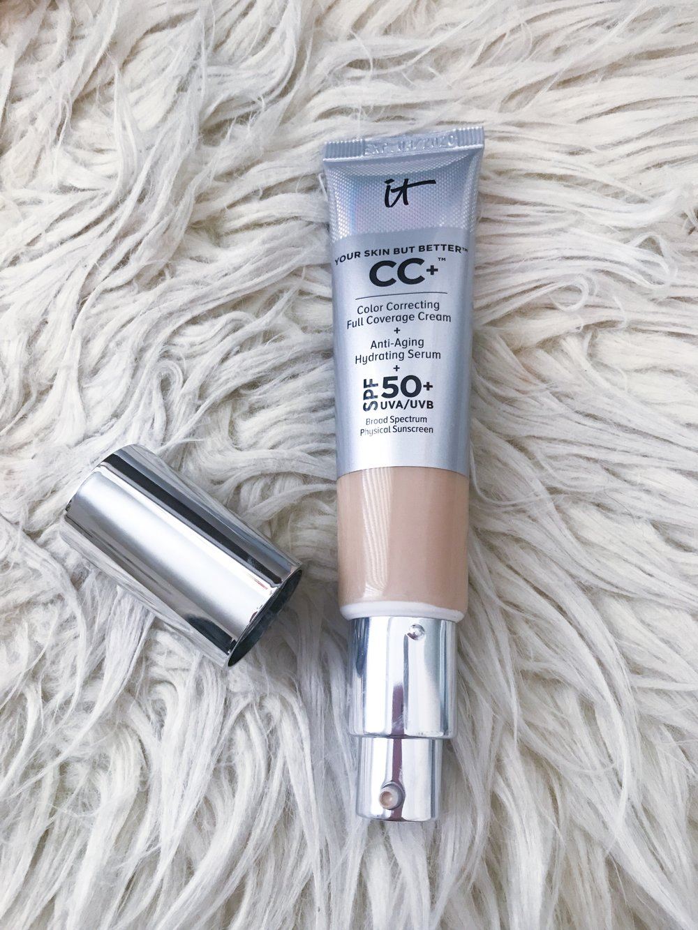IT Cosmetics CC Cream $38 - I absolutely love using this CC cream (tinted moisturizer) as a foundation in the summer!! It goes on so lightweight and natural while color correcting and providing SPF 50! (shade light)