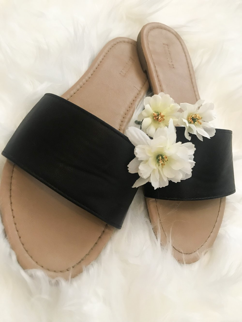 Black Slide Sandals  $9.90 - Forever 21 - These sandals have been apart of almost every outfit this summer! They are so cute and simple and go with everything!! A must have!
