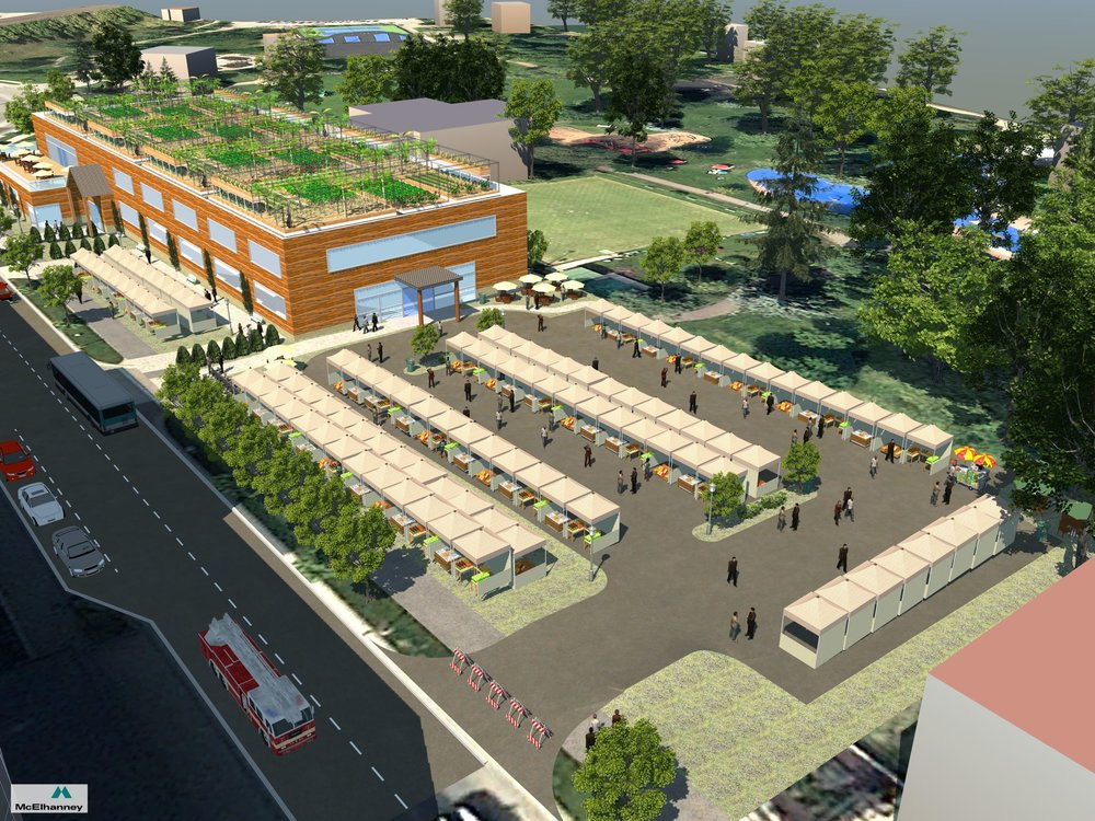 POSSIBLE SYNERGIES WITH OUTDOOR MARKETS   The Kamloops Public Market Cooperative envisions synergies with local outdoor markets and will actively engage stakeholders within these organizations to determine whether that vision is reciprocated.  Credit: Robert Howell, AScT, McElhanney