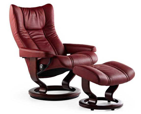 Stressless Wing - A true recliner classicNever change a winning team, right? The Stressless Wing was launched in 1994, and is among our most popular designs ever. The modern, luxurious looks appeal to those with a classic sense of style. Behind the timeless surface lie modern patents like the Plus-system, which provide what you've come to know as the one true Stressless sitting experience.