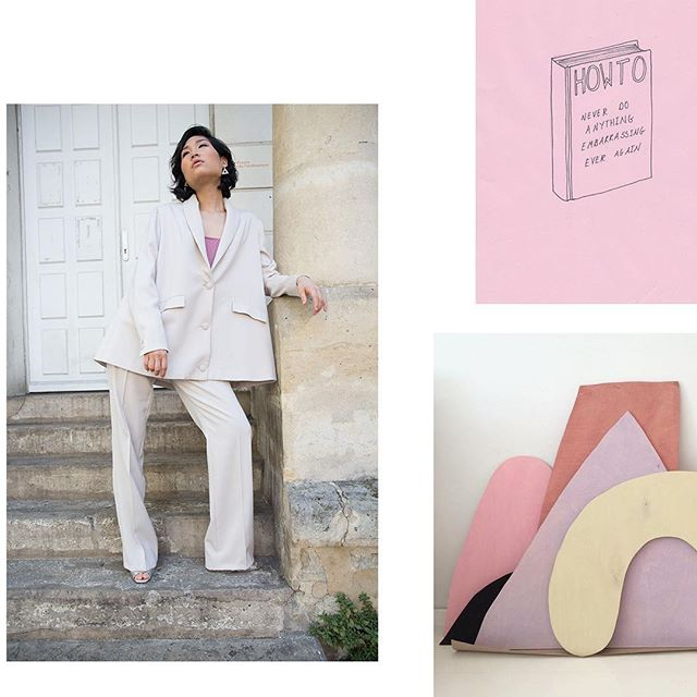 A-line shapes and suits forever #dirtypastels #fashiondesigner #moodboard